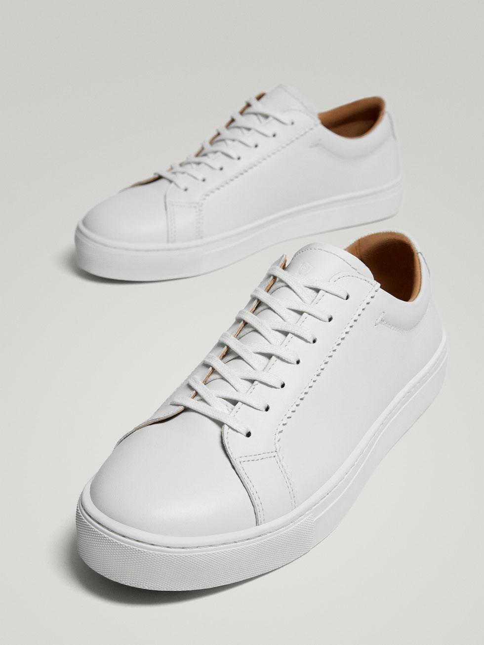 Chaussures De Sport En Cuir Blanc J26wBzi