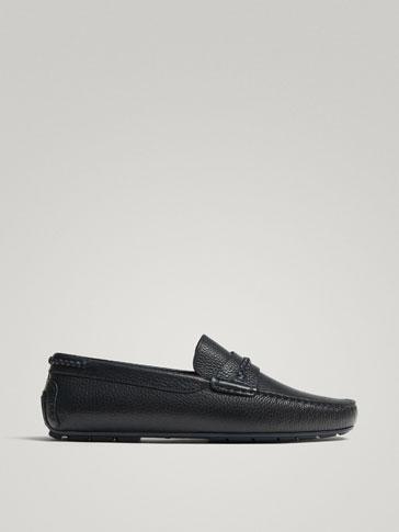 حذاء موكاسين جلد كيوا أزرق