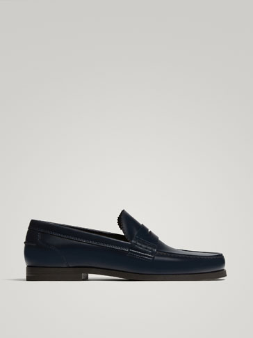 BLUE ANTIK LEATHER LOAFERS