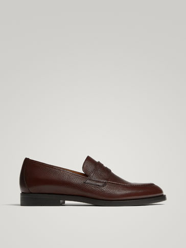 BROWN NAPPA LEATHER LOAFERS