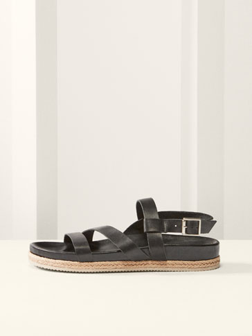 LIMITED EDITION BLACK LEATHER SANDALS