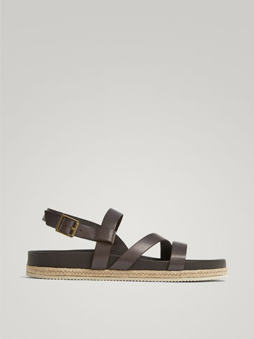 LIMITED EDITION BROWN LEATHER SANDALS