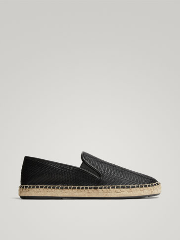 BLACK BRAIDED ESPADRILLES