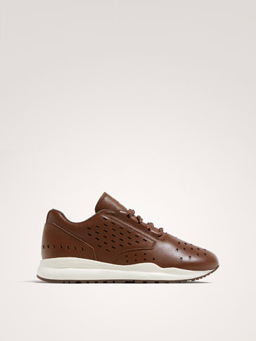 TENNIS CUIR MARRON