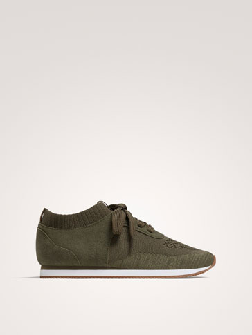 KHAKI FABRIC SNEAKERS