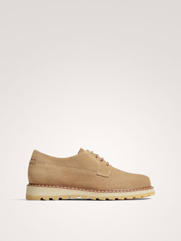 TAN SPLIT SUEDE LEATHER SHOES