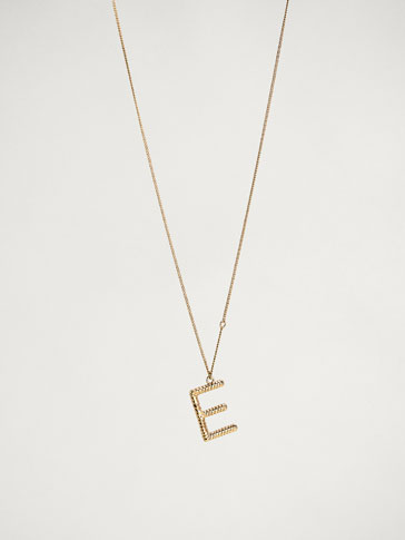 ONLINE EXCLUSIVE LETTER E NECKLACE