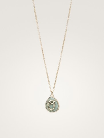 LETTER STONE NECKLACE