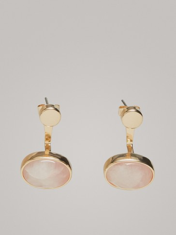 Oval Stone Earrings by Massimo Dutti