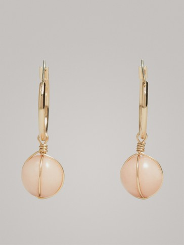 CAGED BALL EARRINGS