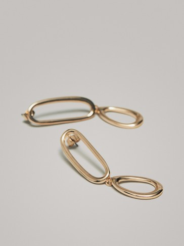 LONG DOUBLE-HOOP EARRINGS