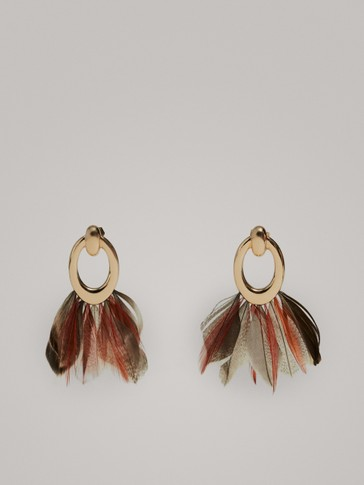 Feather Earrings by Massimo Dutti