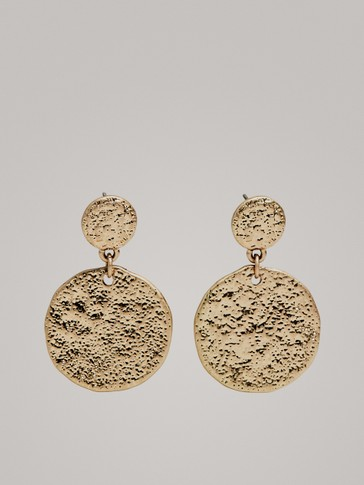 Gold Coin Earrings by Massimo Dutti