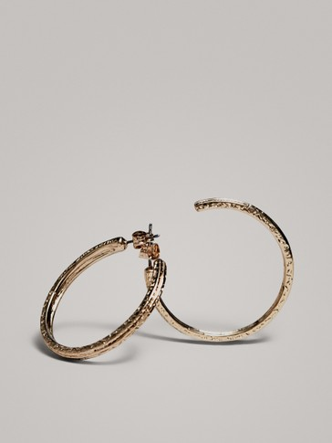 Gold Hoop Earrings by Massimo Dutti