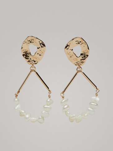 Contrast Pearl Earrings by Massimo Dutti