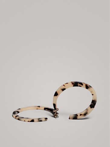 TORTOISESHELL HOOP EARRINGS