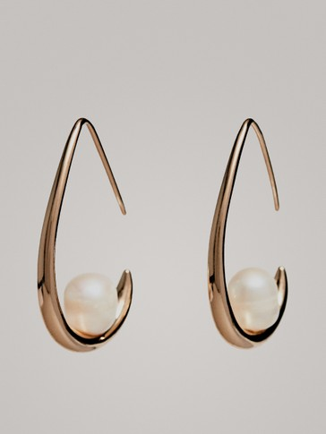 TEAR SHAPE PEARL EARRINGS