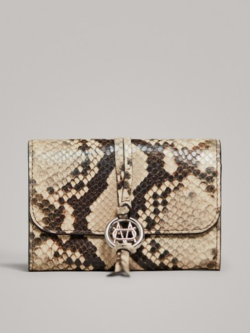 POCHETTE CUIR IMITATION SERPENT