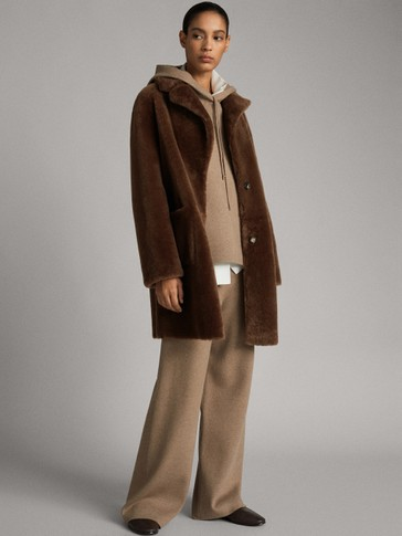 REVERSIBLE MOUTON COAT