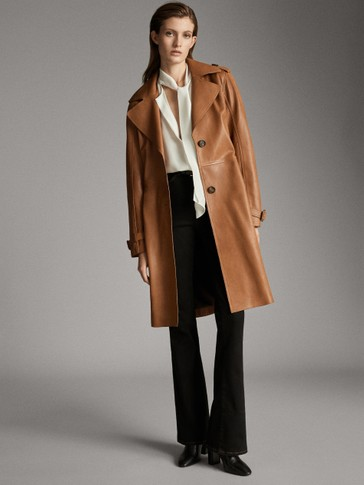 BELTED NAPPA TRENCH COAT