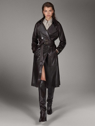 TRENCH-JACKE AUS NAPPALEDER »LIMITED EDITION«