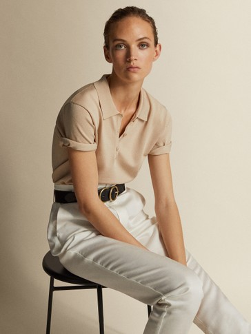LYOCELL AND LINEN BELTED PAPERBAG TROUSERS