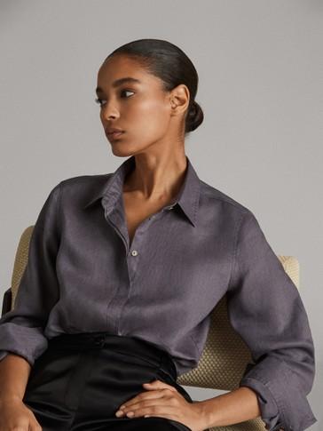 قميص ناعم 100% من الكتان