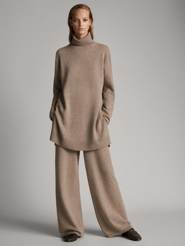 PANTALONI STRAIGHT FIT IN LANA CASHMERE