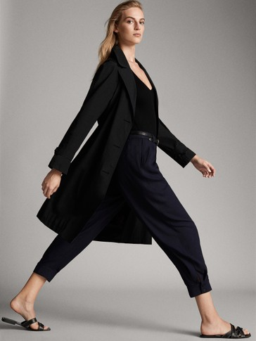 LOOSE-FITTING TWILL TROUSERS  WITH BUTTONS