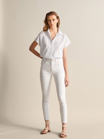PANTALÓN RASO HIGH RISE SKINNY FIT