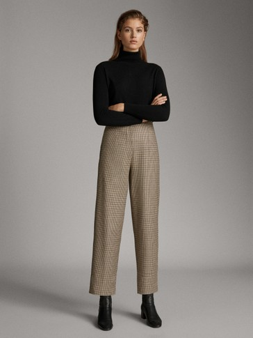 MULTICOLOURED HOUNDSTOOTH TROUSERS