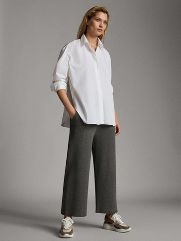 KNIT CULOTTE FIT TROUSERS