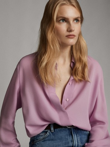 LOOSE-FITTING MAUVE SHIRT
