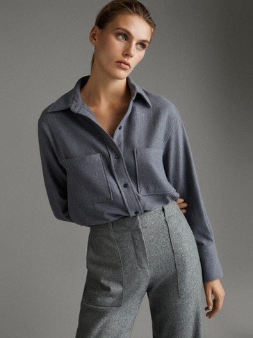 APRÈS-SKI SHIRT WITH POCKETS