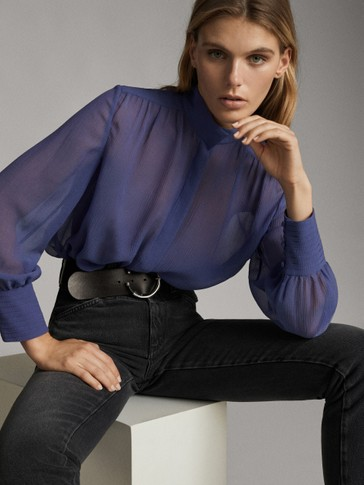 COTTON AND SILK TEXTURED SHIRT