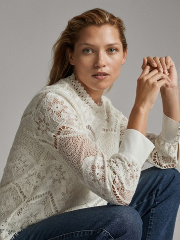 GUIPURE LACE SHIRT