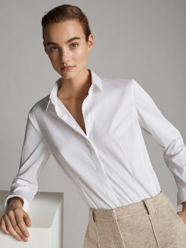 RIBBED STRETCH FIT SHIRT