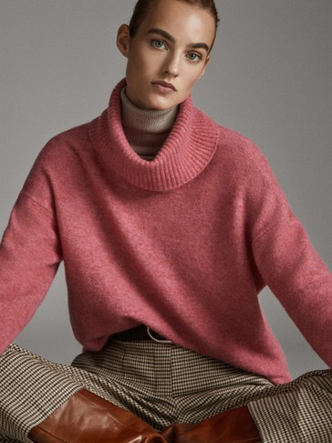 OVERSIZE HIGH NECK SWEATER