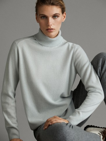 WOOL POLO NECK SWEATER