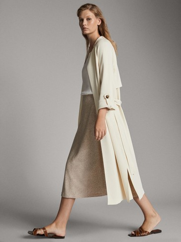 TRENCH-STYLE CARDIGAN WITH BELT