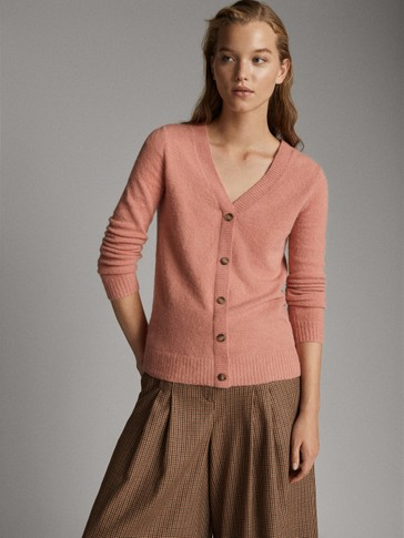 DUAL-USE SWEATER CARDIGAN WITH BUTTONS