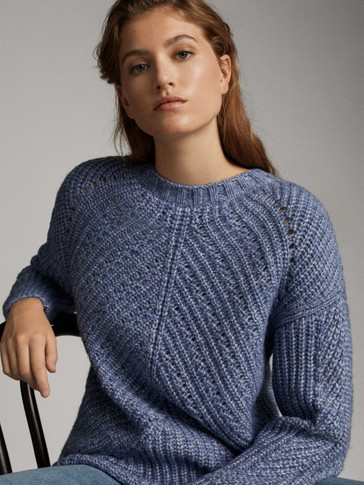SWEATER MED DIAGONAL DETALJE