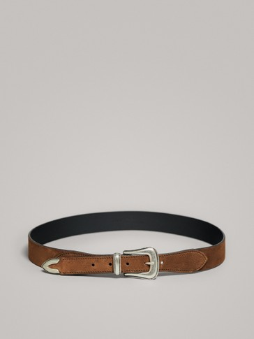 SPLIT SUEDE COWBOY BELT