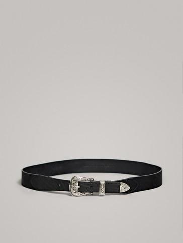 حزام جلدي كوبوي