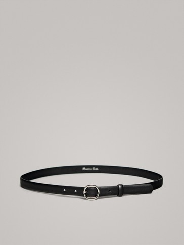 BLACK NAPPA BELT