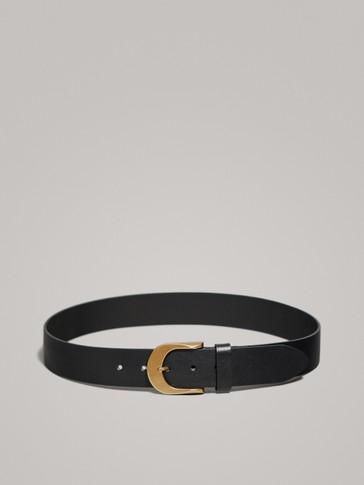 حزام جلد أسود