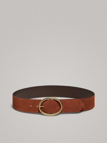 SPLIT SUEDE BELT
