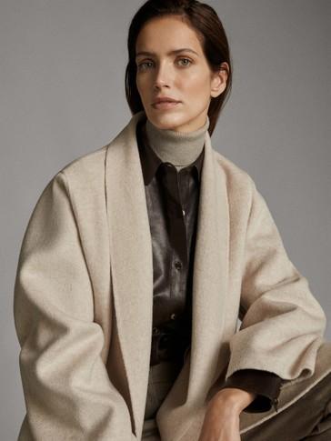 معطف مصنوع يدويا ميلانج صوفي
