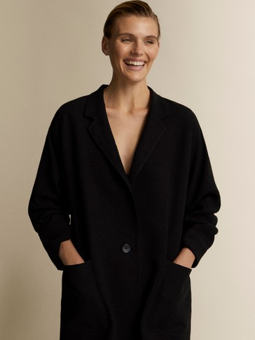 BLACK BLAZER COAT