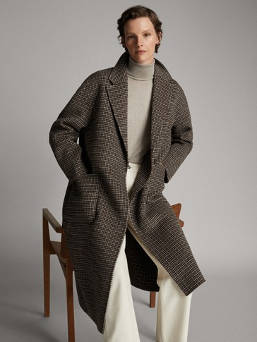 HANDMADE WOOL CHECK COAT